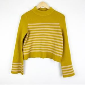 Moth Yellow Structured Stripe Sweater Size XS